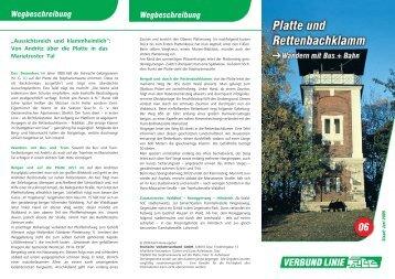 Platte und Rettenbachklamm • Zusatzstrecke bis Hilmteich