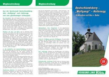 """Deutschlandsberg – """"Wolfgangi"""" – Hollenegg - Verkehrsverbund ..."""
