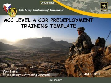 acc level a cor predeployment training template - Home Page 409th ...