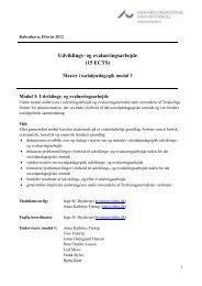 Udviklings- og evalueringsarbejde (15 ECTS) - For Studerende ...