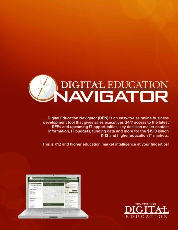 Digital Education Navigator (DEN) is an easy-to-use online business ...