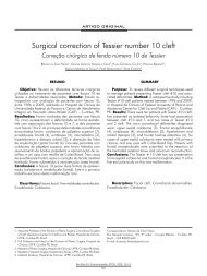 Surgical correction of Tessier number 10 cleft - ABCCMF