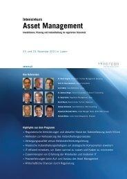 Intensivkurs Asset Management - Vereon AG