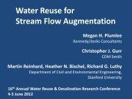 Water reuse for stream flow augmentation Megan H. Plumleea ...