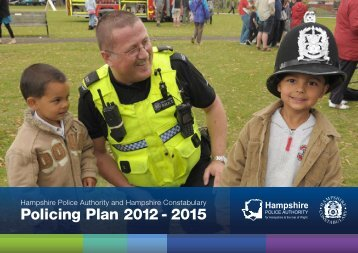 Policing Plan 2012 - 2015 - Hampshire County Council
