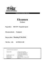 Orgkjemi - Organisk kjemi - 07062010