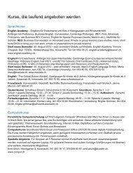 Kurse, die laufend angeboten werden - Verein Weiterbildung im ...
