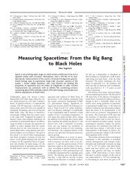 Measuring Spacetime: From the Big Bang to Black Holes