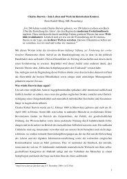 1 Charles Darwin – Sein Leben und Werk im historischen Kontext ...