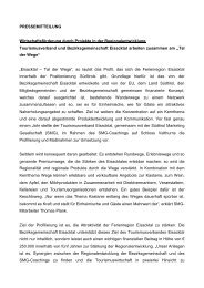 224 KB - Bezirksgemeinschaft Eisacktal