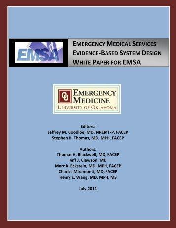 OUDEM EMS System Design White Paper FINAL for July ... - NAEMSP