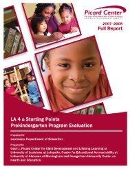 LA 4 Prekindergarten Program Evaluation - Louisiana Department of ...