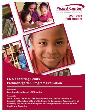 LA 4 Prekindergarten Program Evaluation - Louisiana Department of ...