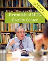 Essentials of HUB Faculty Center - University at Buffalo