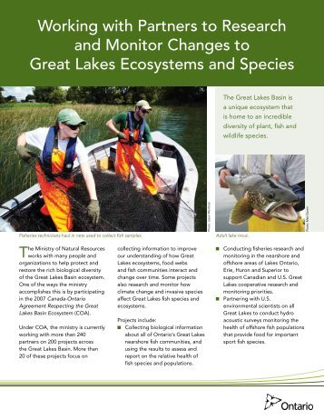 Research and Monitor Changes to Great Lakes Ecosystems and ...
