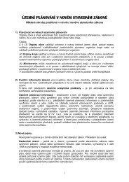 územní plánování v novém stavebním zákone ˇ - Ústav územního ...