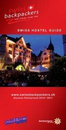 SWISSHOSTELGUIDE www.swissbackpackers.ch - verein-web.ch