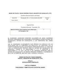 Bando de Policía y Buen Gobierno para el Municipio de Guanajuato ...