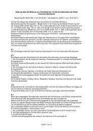 Seite 1 von 2 Satzung über die Bildung von Schulbezirken für die ...