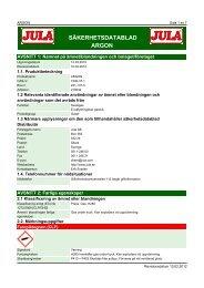Säkerhetsdatablad (MSDS) (363 KB - pdf) - Jula