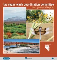 Las Vegas Wash Coordination Committee 2011 Year-End Report