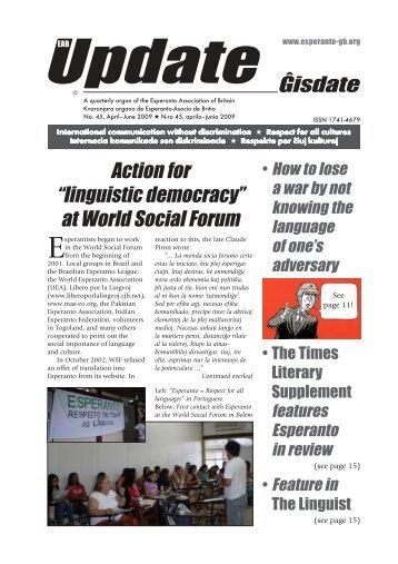 Ĝisdate 45, aprilo-junio 2009 - Esperanto Association of Britain