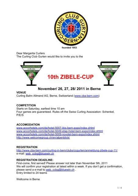 10th ZIBELE-CUP - Curling Bahn Allmend Bern