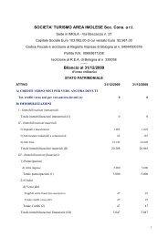 Bilancio S.T.A.I. 2009 - STAI - Società Turismo Area Imolese