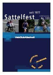 Sattelfest Nr. 123 seit 1977 - VC Allschwil