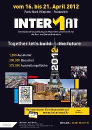 Ihr kostenloser Eintrittsausweis auf www.intermat.fr - Vertikal.net