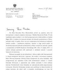 Pan Jacek Cichocki Minister Spraw Wewnętrznych Warszawa Do ...
