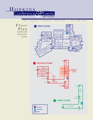 Floor Plan and Capacity Chart - Hopkins Conference & Event Services
