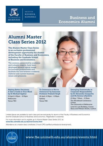 Download the Alumni Master Class flyer pdf - Faculty of Business ...