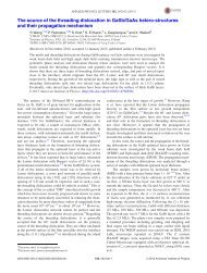 The source of the threading dislocation in GaSb/GaAs hetero ... - IEMN
