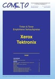 PDF-Katalog Xerox und Tektronix - Cometo