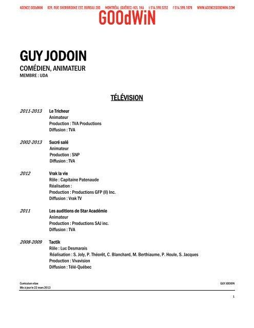 GUY JODOIN - Agence Goodwin