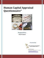 Human Capital Appraisal Questionnaire - Future Achievement ...