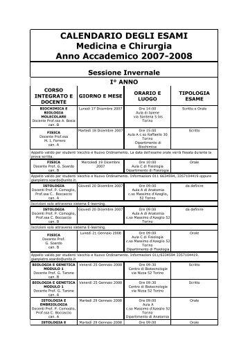 Unito Calendario Didattico.Medchirurgia Campusnet Unito It Magazines