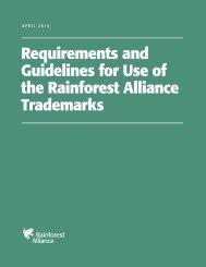 Guías de Uso de la Marca de Verificación - Rainforest Alliance