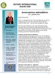guvernørens månedsbrev nr. 7 for januar 2013 - Distrikt 2305