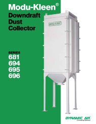 Modu-Kleen® Downdraft Dust Collector - Chemical Processing