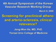 Screening for preclinical athero- and arterio-sclerosis, clinical ...