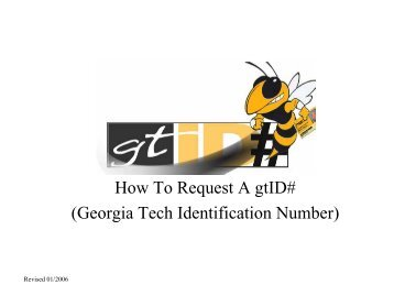 How To Request A gtID# (Georgia Tech Identification Number)