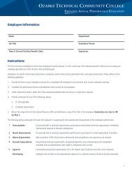 Institutional Advancement Employee Evaluation Form