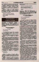 Ü NORMAS LEGALES - Ministerio de Transportes y Comunicaciones