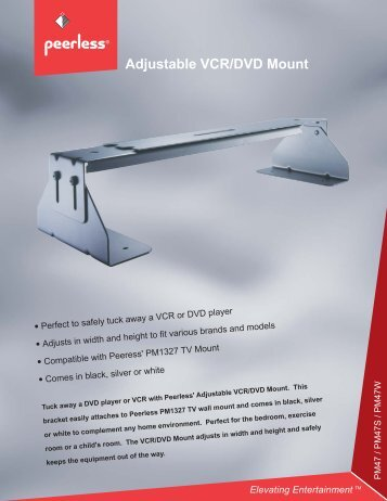 Adjustable VCR/DVD Mount - Monitor Galaxy