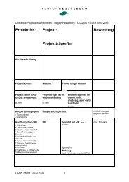 Checkliste Projektauswahlkriterien - Region Hesselberg CMS