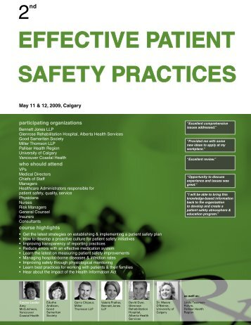 EFFECTIVE PATIENT SAFETY PRACTICES 2nd