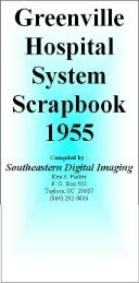 Greenville Hospital System Serapbook 1955 - Magazooms