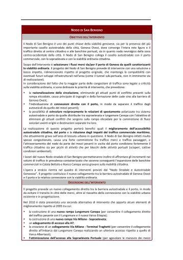 Nodo di San Benigno - Urban Center - Comune di Genova